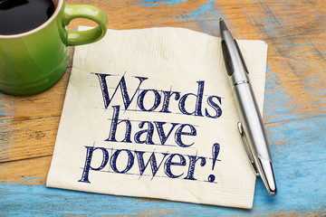 words have power written on nap